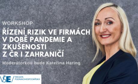 Workshop Řízení rizik ve firmách v době pandemie  a zkušenosti z ČR i zahraničí