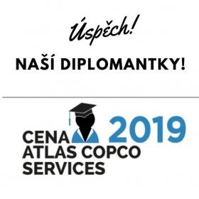 Naše diplomantka je jednou z vítězek Ceny Atlas Copco Services 2019. Gratulujeme!